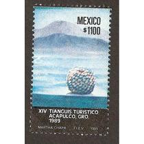 Estampilla Tianguis Turístico 1989 Nueva