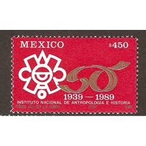 Estampilla Instituto Antropología E Historia México 1989 Vbf