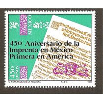 Estampilla 450 Años Imprenta En México 1989