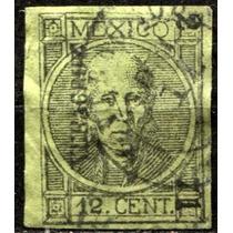 1013 Clásico Hidalgo Perfil Veracruz #2 71 12c Usado 1871