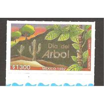 México Día Del Árbol 1992 Ruleteada Impresa Por Amate