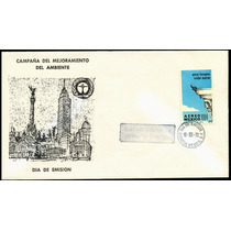0093 México Carta Primer Día Mejoramiento Ambiente 1973