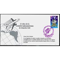 0122 México Carta Primer Día 25 Años Aviación Civil 1998