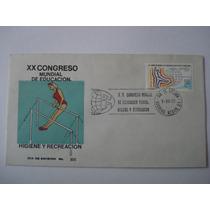 1er Dia De Emisión Xx Cong Mundial De Educacion Fisica 1977