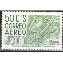México, Arqueología Chiapas 50c, Ma 300v 1953