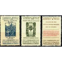 2219 México Serie Cent De Imprenta Aéreo 3 S Mint N H 1942