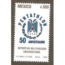 Estampilla Pentathlón 1988 Mn4