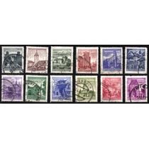 0509 Austria Castillos 12 Sellos Usados 1973-78