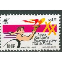 Sc 1836 Año 1993 B1 Juegos Nacionale Deportivos Sobre Silla