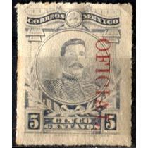 0529 Oficial Scott# O158 Rojo Abajo Con P 5c Nuevo 1921-30