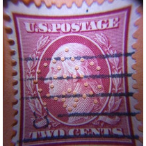Estampilla Usa 2 Cents Washington, 1910 (muy Raro) #386mason