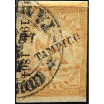 2395 Clasico Aguilita Tampico#191 1864 2 Reales Usado L H
