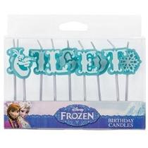 Let-it-go Frozen Olaf Letter Pastel Velas