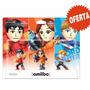 Amiibo Mii Paquete 3 Figuras Nuevo Sellado Super Smash Bros