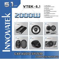 Amplificador 2000w Innovatek 5.1 Canales Kit Completo Vtek51