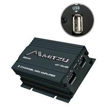 Mini Amplificador De 2 Canales Mitzu-mit-75usb