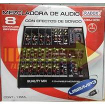 Mezcladora Audio 8 Canales Usb Mdj810 Dxr012546