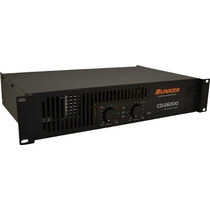 Amplificador Bunker Cd-26000 2600w (1300 X2) Promoción