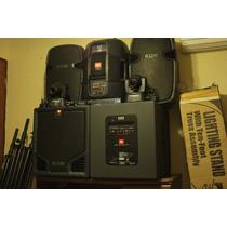 Sistema Audio Jbl Amplificado,mixer,drive Rack,luces,stands