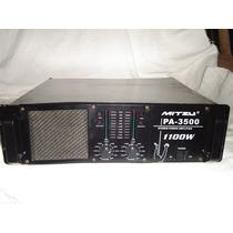 Amplificador De Potencia Mitzu Pa-3500 No Crest, Qsc,peavey