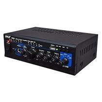 Amplificador Pyle Home Ptau45 Mini 2x120 Watt Max Stereo