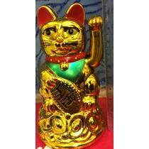 Gato Japonés De La Suerte Maneki Neko 11cm Envio Gratis