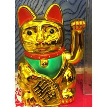 Gato Japonés De La Suerte Maneki Neko 15 Cm