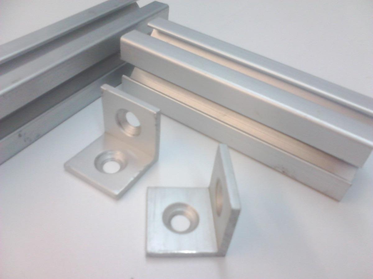 Ngulo de refuerzo para perfil de aluminio espesor 1 8 for Perfiles de aluminio para toldos correderos