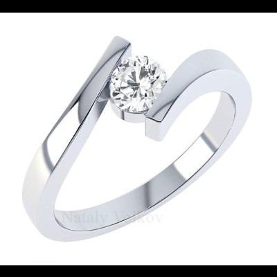 Anillo de compromiso en oro blanco de 14k modelos a elegir for Precio rodiar anillo oro blanco