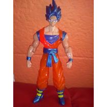 Dragon Ball Z Goku Ssgss Con Luz Y Cambio De Cabezas