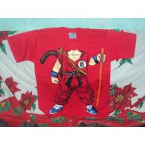 Playera P/niño Dragon Ball Z Cuerpo De Goku Niño Talla 10-12