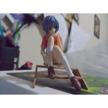 Lote 4fig Rei Misato Evangelion Gashapon Anime Sexy Uniforme