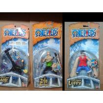 Lote One Piece 3 Figuras Luffy Roronoa Zoro Y Sanji