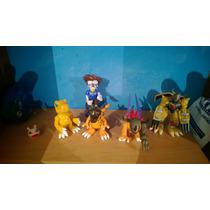 Increible Coleccion De Figuras Digimon Originales Bandai