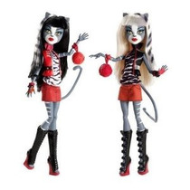 Monster High Acción Muñeca Figura 2pack Gift Set Werecat Her