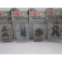 Set 4 Figuras Samurai Ninja Miyamoto Musashi