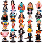 One Piece 20 Figuras Nami Zoro Sanji Luffy Chopper Chibi Pop