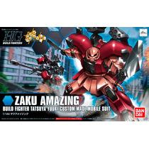 1/144 Hg Ban-dai Zaku Amazing Build Fighter Tatzuya Yuuki Cu