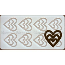 Molde De Silicon Corazon De Chocolate Para Decorar Postres