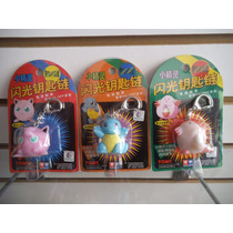 Lote 3 Llaveros Jigglypuff, Squirtle, Chansey Pokemon Tomy