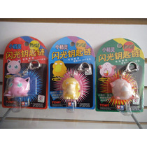 Lote 3 Llaveros Jigglypuff, Psyduck, Chansey Pokemon Tomy