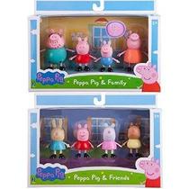 Peppa Pig 3 Figuras Paquete Bundle 2 Artículos: Peppa & Fam