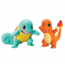 Tb Pokémon 2 Pack Small Figures, Squirtle And Charmander