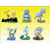Arg Pokemon Set De 6 Figuras Originales Anime Manga Rara Sp0