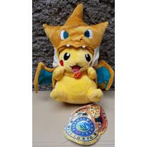 Peluche Pokemon Pikachu Disfrazado De Charizard 25cm