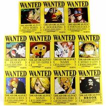 11 Piezas Anime One Piece Carteles Se Busca 21x14 Cm