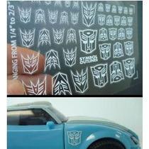 Logos Autobot Decepticon Reprolable Transformers Hm4