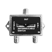 Switch Selector Ab Con Conector Rg-59 Seleccione Tv O Cable
