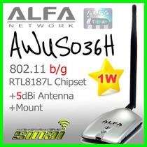 Adaptador Usb Wifi Gran Potencia 1000mw Alfa Awus036h Beini