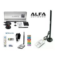Adaptador Wifi Usb Alfa 1w,1000mw,luxury,awus036h,antena,8 D